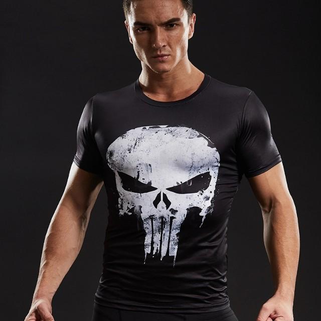 57cbf75c Punisher Compression Shirt (Short Sleeves), Men's Fashion, Clothes ...