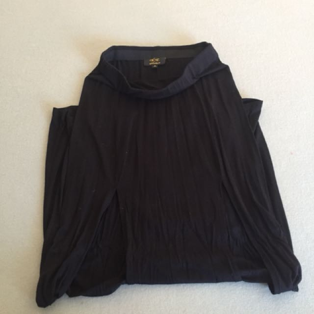 Slit maxi skirt