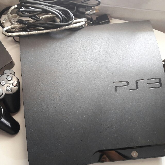 Sony PS3 Slim Black 160 GB + HDD external 500 GB