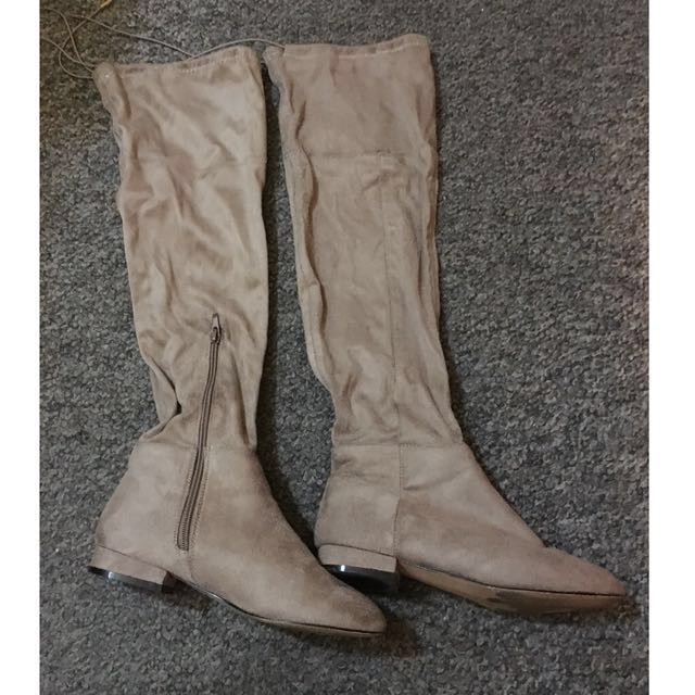 Suede knee high size 37