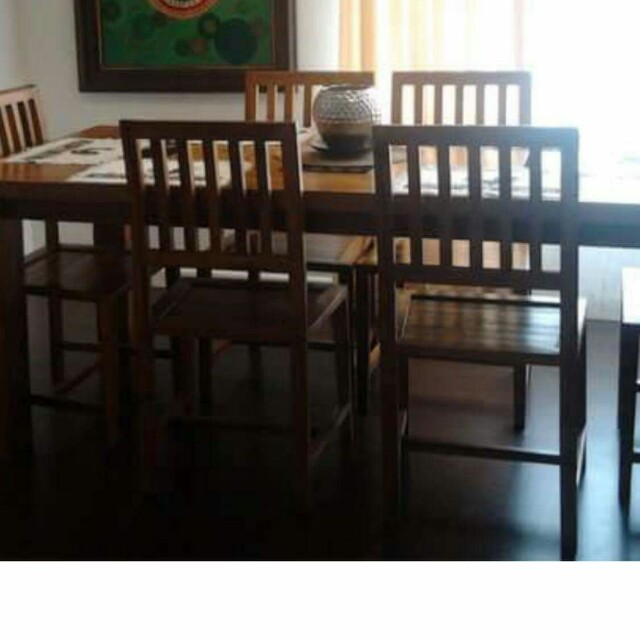 Teakwood 6 seater dining table