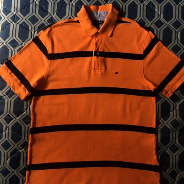 Tommy Hilfiger Orange Stripe Poloshirt
