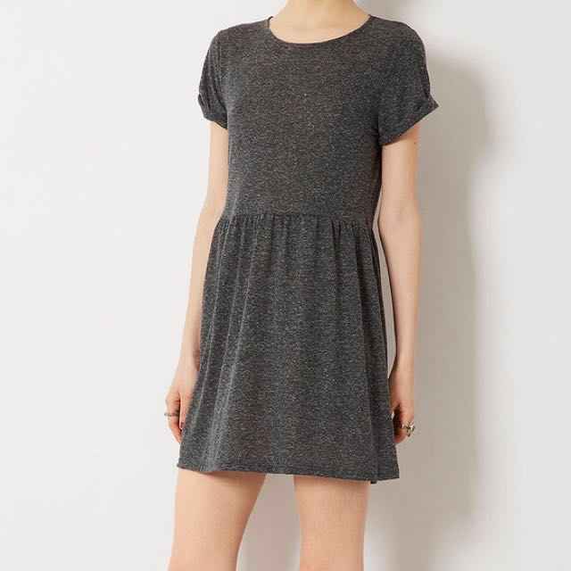 Topshop Petite grey speckle dress Size 8