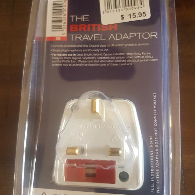 Travel Adapter - Aus to numerous countries