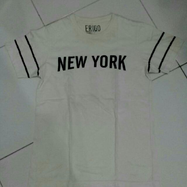 T-Shirt Kaos Erigo New York White S