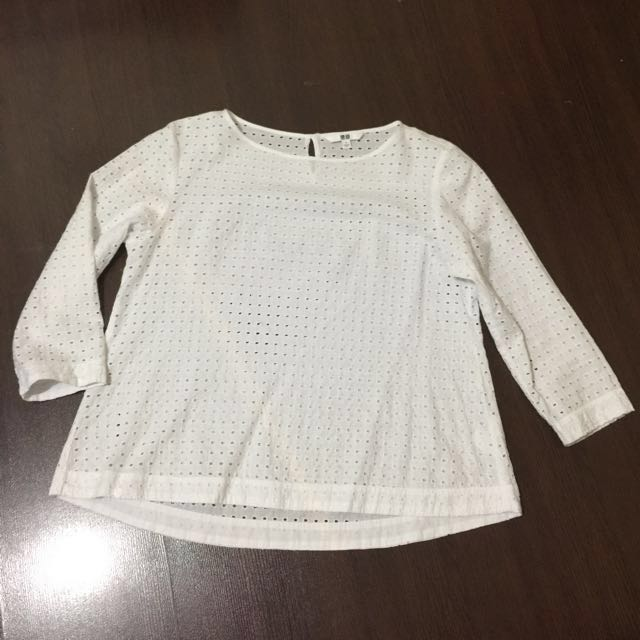 Uniqlo 3/4 top medium