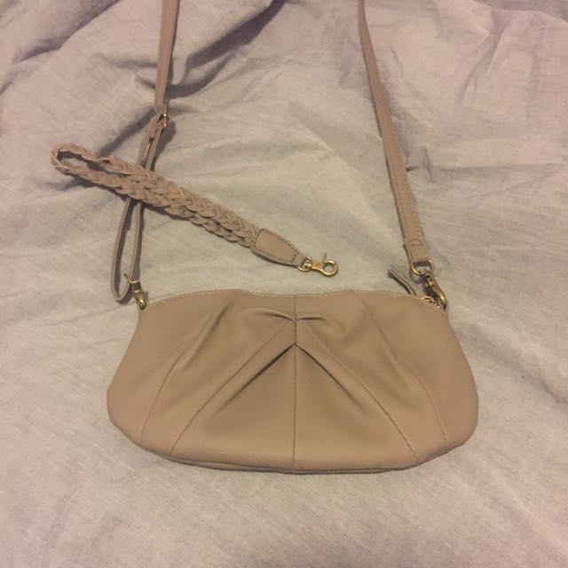 UO grey shoulder bag/clutch