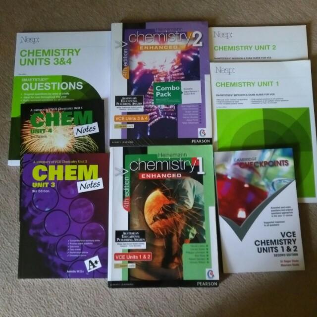 VCE Units 1,2,3,4 Chemistry