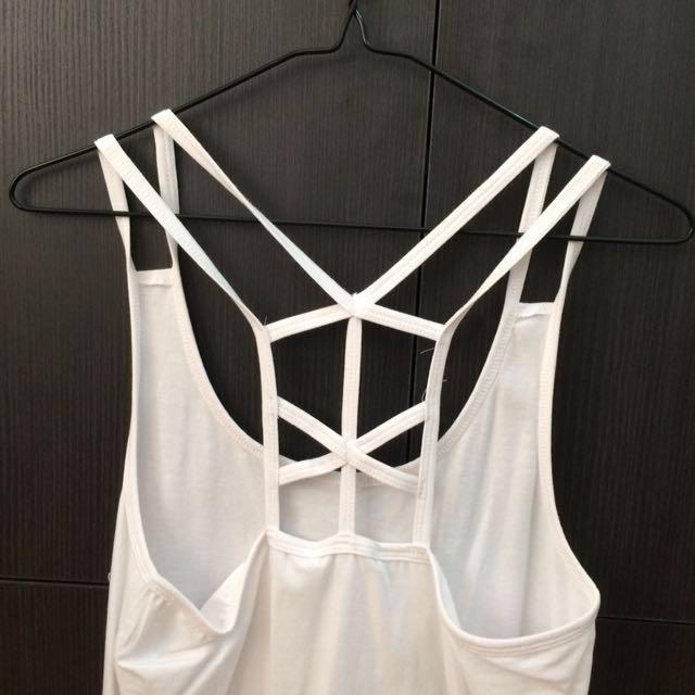 White Back Detail Cotton on shjrt