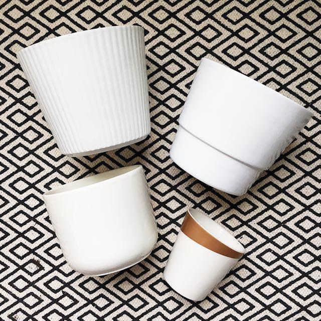 White Ceramic Pots