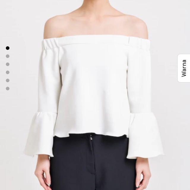 White Off shoulder Tops