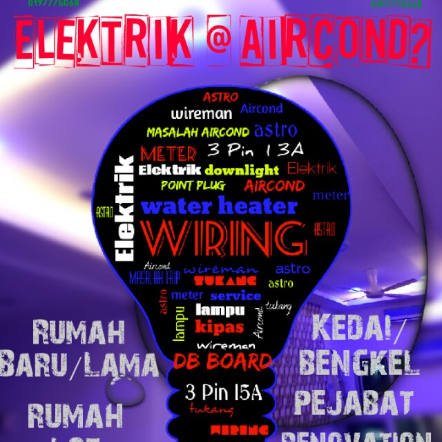 Wiring Elektrik Aircond Services Home Services Electrical Lighting Wiring On Carousell