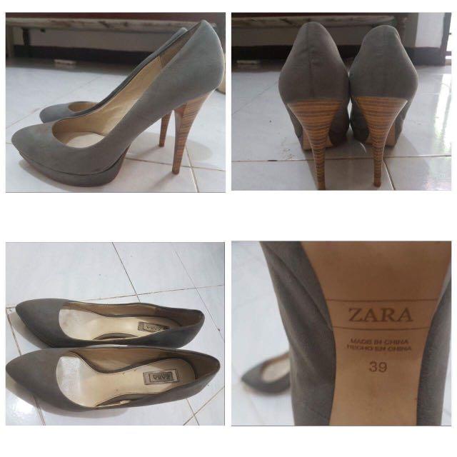 Zara Grey High Heels