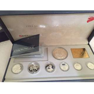 1991 2nd series Sterling Silver Proof Coin Set