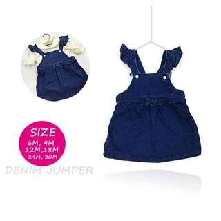Denim Jumper Skirt Dress