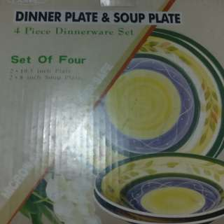 DINNER AND SOUP PLATE SET