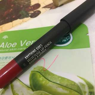 Authentic mac velvetease lip pencil used 5times or less , it's unwanted gift