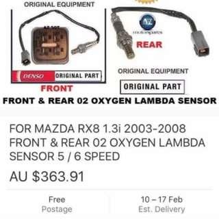Front and rear sensor RX8 Mazda