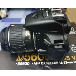 Nikon D5600 with 18-55 VR Kit and Warranty
