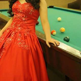 Red Debut Gown for rent