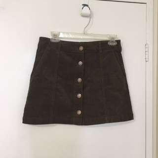 Fall corduroy skirt