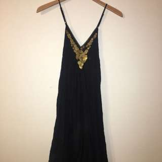 Urban Outfitters: Silence and Noise black maxi dress