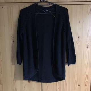 H&M knitted cardigan in black