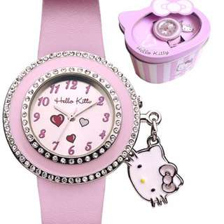 Hellokitty leather watch with charm