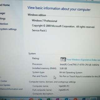 hp i7 vpro high spec desktop