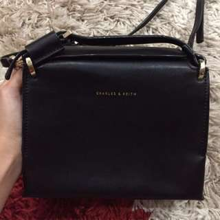 Charles & Keith sling bag (black)