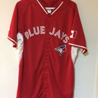 2015 CANADA DAY (RED) BLUE JAYS JERSEY (FITS L/XL)