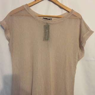 Sheer light link tshirt style dress
