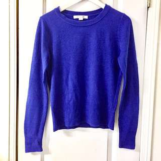 F21 Vibrant Blue Sweater