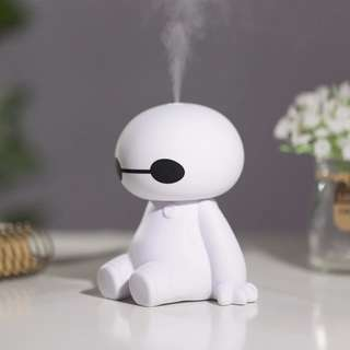 Cute Robot Shaped Mini USB Ultrasonic Aroma Humidifier /Diffuser/Car Purifier/BEST !! Christmas gift!!