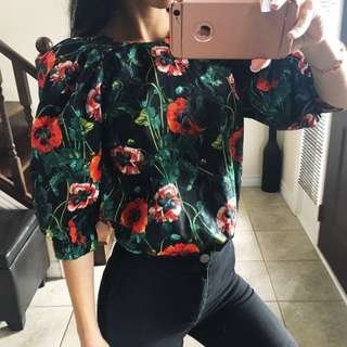 Cotton flowery Blouse Size XS