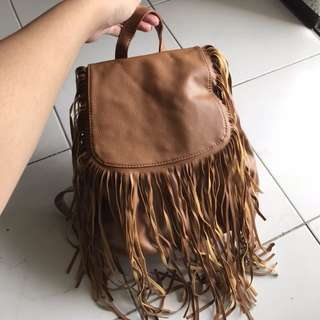 FACTORIE Long Fringed Detail Backpack