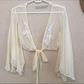 STONED IMMACULATE Stevie Chiffon Wrap Top - Size XS