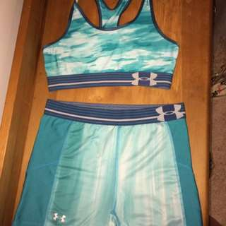 Under Armour bra & shorts set, XS - S