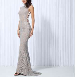 Luxury Silver Gown