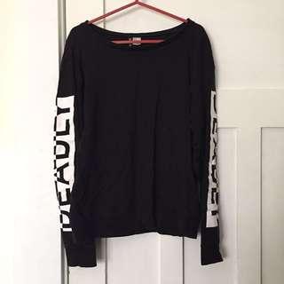H&M women black hoodie jumper