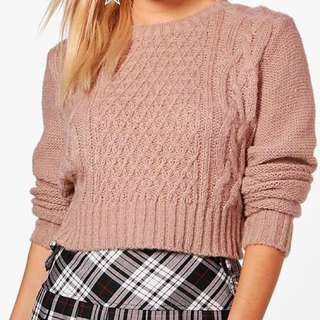 BNWT Cable Knit Cropped Sweater