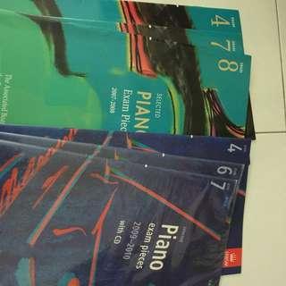 Piano exam books