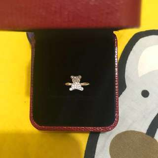 周生生22份小熊🐻鑽石戒指