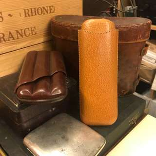 Vintage Travelling Cigar Cases
