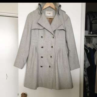 Wool double breasted jacket