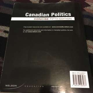Canadian Politics - Rand Dyck