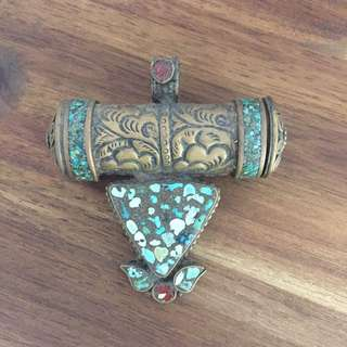 Antique Indian turquoise pendant