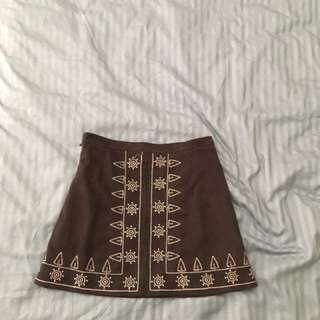 Suede feel mini skirt size 10