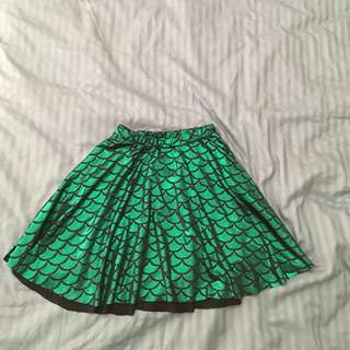 Lycra mermaid circle skirt size S/M