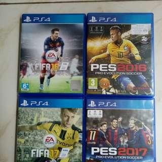 Kaset PS4 Ori. Fifa 2016 PES 2016 Fifa 2017 PES 2017